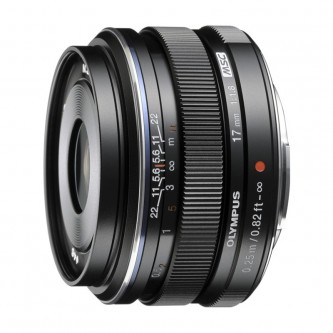 Olympus 17mm f/1,8 sort