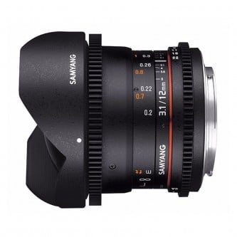 Samyang 12mm Fisheye T3,1 VDSLR (Fuldformat) Fuji X