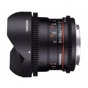 Samyang 12mm Fisheye T3,1 VDSLR (Fuldformat) Canon EF