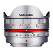 Samyang 7,5mm f/3,5 Fisheye MTF, sølv