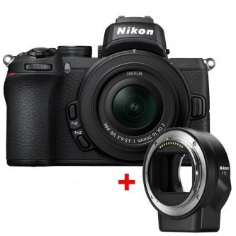 Nikon Z 50 Z m/16-50mm og Mount Adapter FTZ