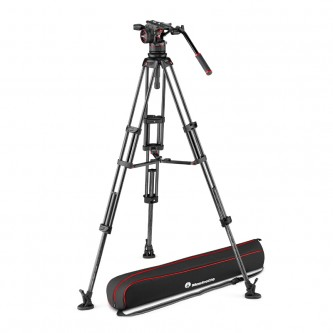 Manfrotto Stativkit Video Kulfiber Nitrotech N12 + 545GCF