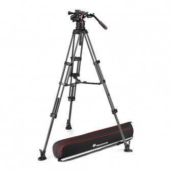 Manfrotto Stativkit VIdeo Nitrotech 612 + CF Twin MS