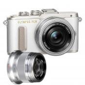 Olympus E-PL8 PEN m/14-42mm EZ + 45mm f/1.8 hvid