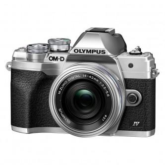 Olympus OM-D E-M10 Mark IV m/14-42mm EZ, sølv