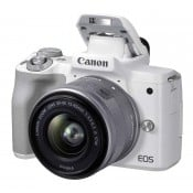 Canon EOS M50 Mark II m/15-45mm STM hvid