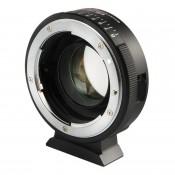 Viltrox adapter fra Nikon G&D til MFT med brændviddereduktion