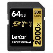 Lexar 64GB Pro 2000X SDHC/SDXC UHS-II U3 (V90)