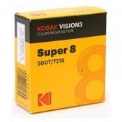 Kodak Vision3 500T 7219, 8 mm x 15 m Perf. 1R smalfilm