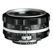 Voigtländer Color Skopar 28.mm f/2.8 SLII-S til Nikon Ai-S, sølv