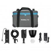 Nanlite Forza 60 m/ Bowens adapter & battery handle