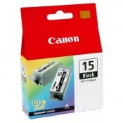 Canon BCI-15BK sort, dobbelt pakke