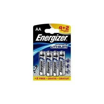 Energizer AA Lithium 4+2 pak