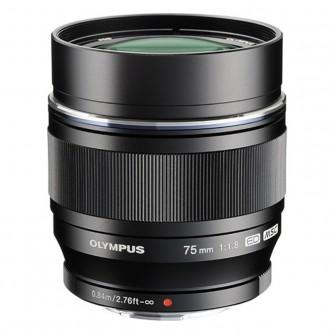 Olympus 75mm f/1,8 sort