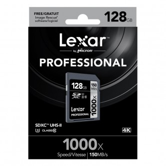 Lexar 128GB SD kort 150 MB/s