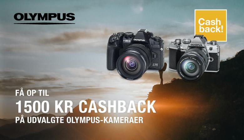 Få op til 1.500 kr. i cashback ved køb af udvalgte kameraer.