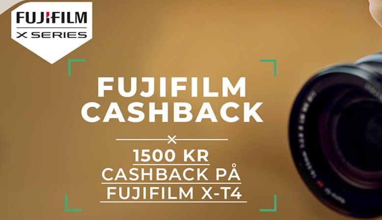 Fujifilm tilbyder en cashback på 1.500 kr. ved køb af X-T4, enten hus eller som kit