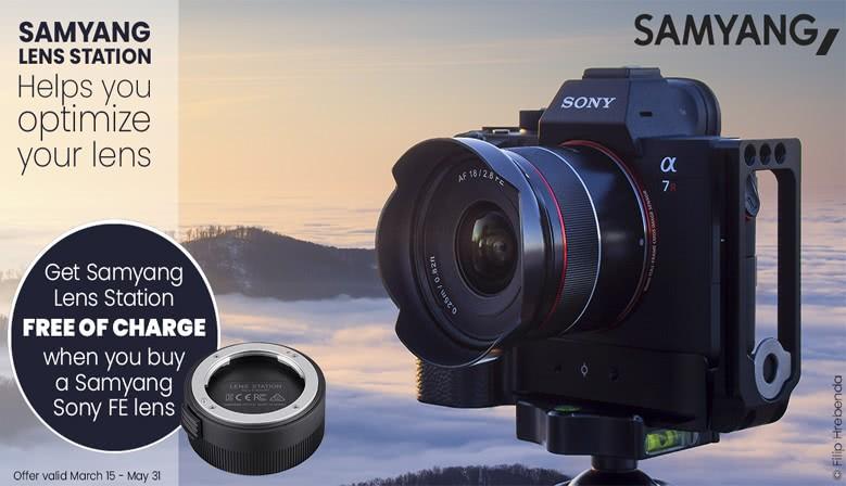 Bestil Samyang-objektiver til Sony FE og få en gratis Lens Station med
