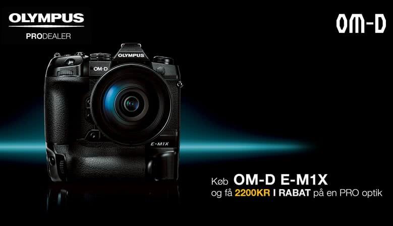 Olympus Pro E-M1X kampagne. Spar kr. 2.200,-