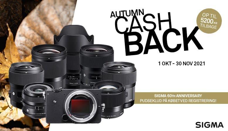 Sigma tilbyder cashback på udvalgte objektiver og kamera-modeller