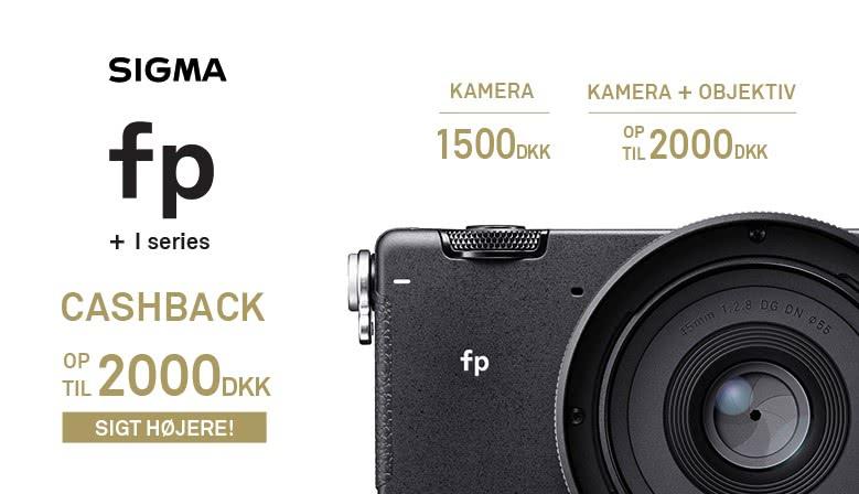Få op til 2.000 kr. i cashback ved køb af Sigma fp med udvalgte objektiver.