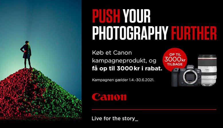 Få op til 3.000 kr. i cashback på udvalgte Canon-produkter