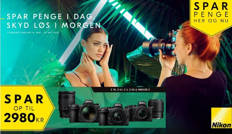 Spar op til 2.980 kr. på udvalgte produkter fra Nikon
