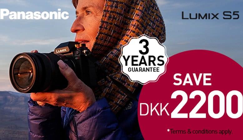 Få en cashback på kr. 2.200,- ved køb af Lumix S5